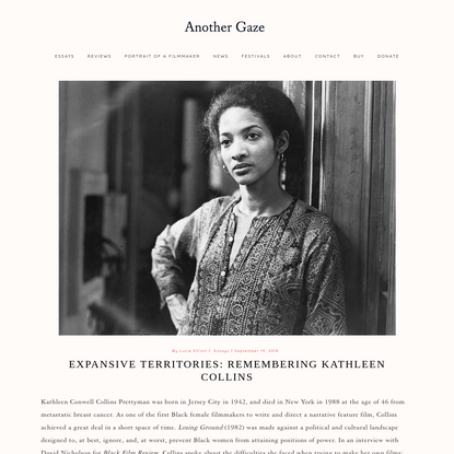 Expansive Territories: Remembering Kathleen Collins - Another Gaze: A Feminist Film Journal