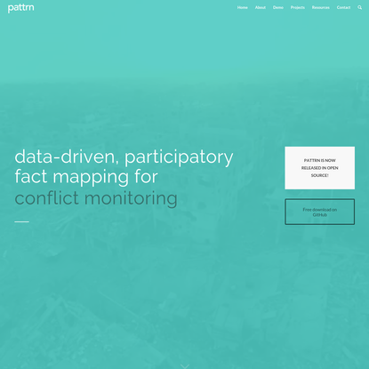 pattrn   data-driven, participatory fact mapping