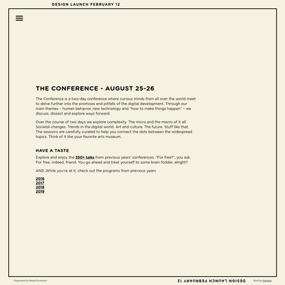 About - The Conference