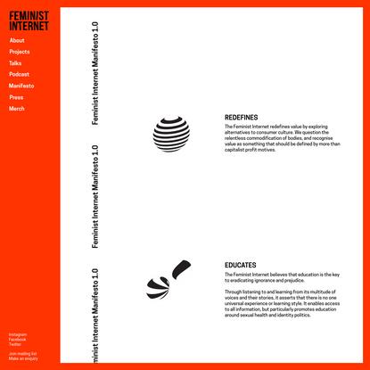 FEMINIST INTERNET - Manifesto