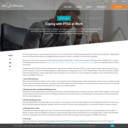 Coping with PTSD at Work | meQuilibrium