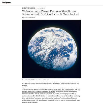 Here's Some Good News on Climate Change: Worst-Case Scenario Looks Unrealistic