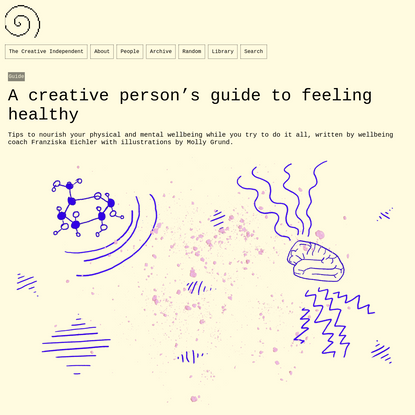 A creative person's guide to feeling healthy