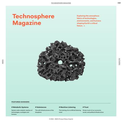 Technosphere Magazine: Home