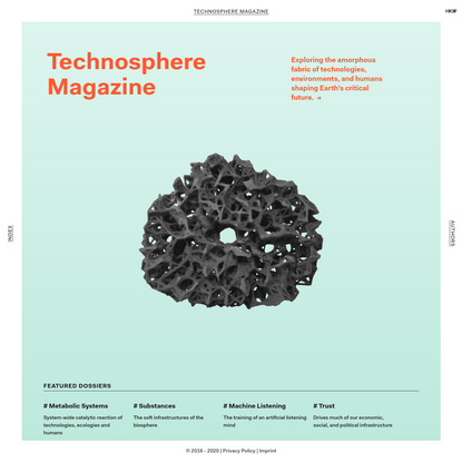 Technosphere Magazine: Home