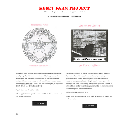 Programs - KESEY FARM PROJECT