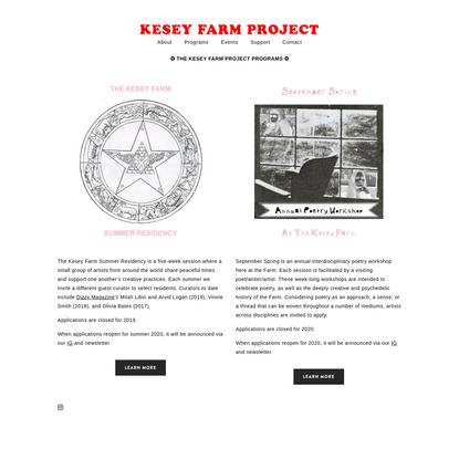 Programs - KESEY FARM PROJECT