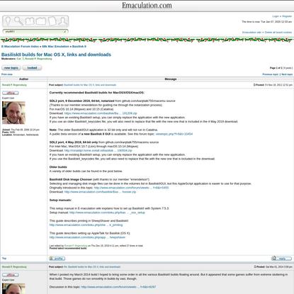BasiliskII builds for Mac OS X, links and downloads * E-Maculation Forum