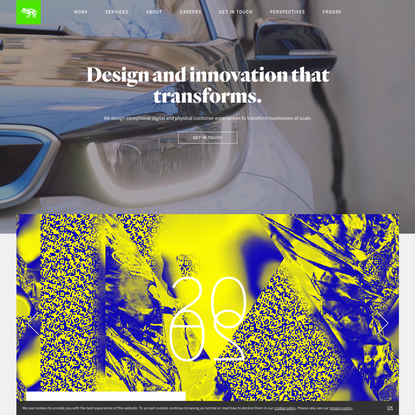 Global Design, Innovation and Strategy firm   frog