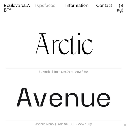 Typefaces - Boulevard LAB