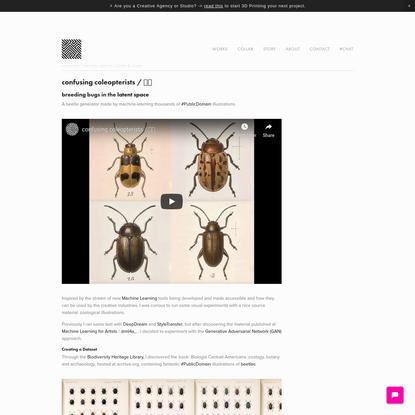 confusing coleopterists / 🤔🐞 - cunicode / Digital Craftsmanship