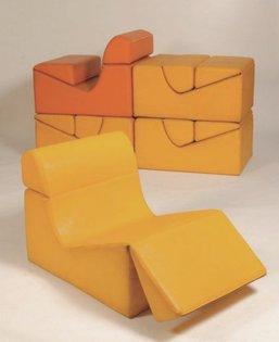 Jean Paul Barray 1970 convertible lounge chair