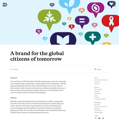 A brand for the global citizens of tomorrow