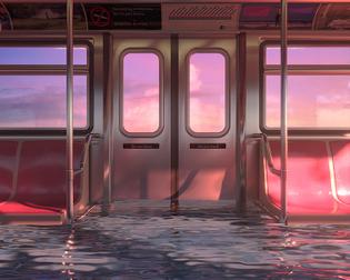 Hayden Williams: Sunset Train