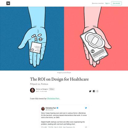 The ROI on Design for Healthcare - Doctor as Designer - Medium
