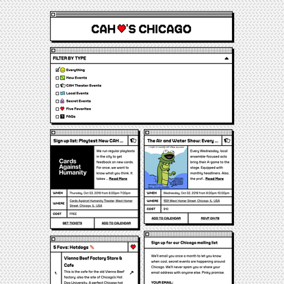 Cards Against Humanity Loves Chicago