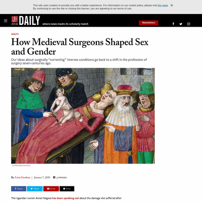 How Medieval Surgeons Shaped Sex and Gender | JSTOR Daily