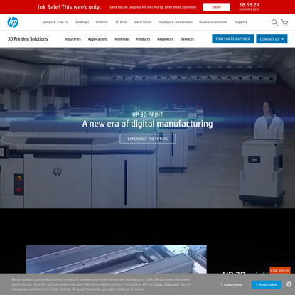HP Industrial 3D Printers - Leading The Commercial 3D Printing Revolution | HP® Official Site