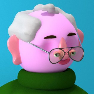 It's so hot today that my EYES have melted off my head . . . . . . #illustration #animation #3d #blender3d #blender #pink #b...