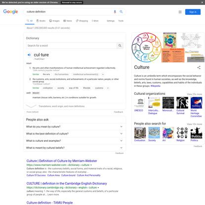culture definition - Google Search