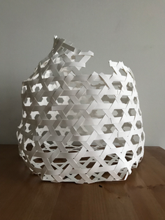 Prototype paper woven form