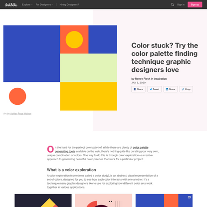 Color stuck? Try the color palette finding technique graphic designers love