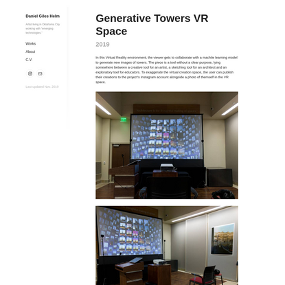 Generative Towers VR Space