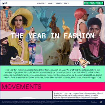 The Year in Fashion