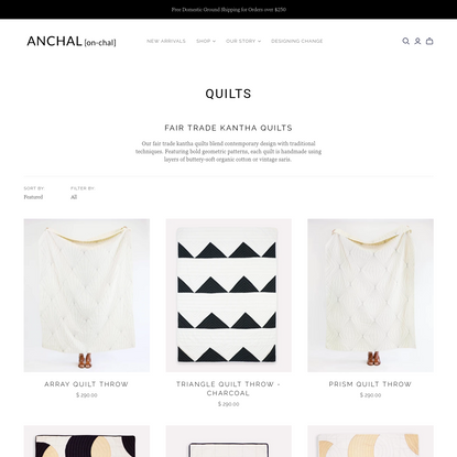 Quilts - Sustainable Home Decor | Anchal Project