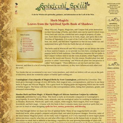 Spiritual Spells: Herbal Magick Book of Shadows