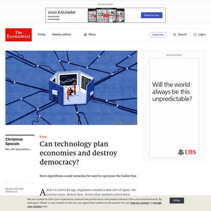 Can technology plan economies and destroy democracy?