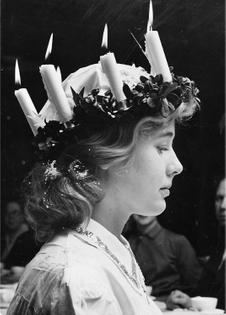 Eva Rydin as Lucia, 1955, Sweden