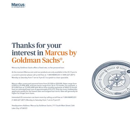 Personal Loans, High-Yield Savings & CDs   Marcus by Goldman Sachs®