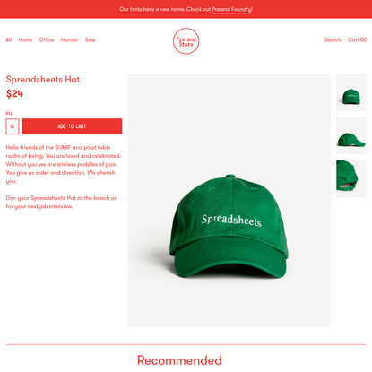 Spreadsheets Hat