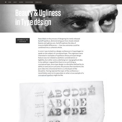 Beauty and Ugliness in Type design - I Love Typography