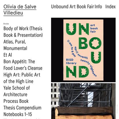 Unbound Art Book Fair - Olivia de Salve
