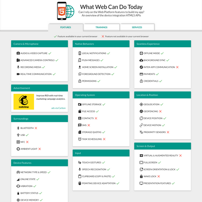 What Web Can Do Today