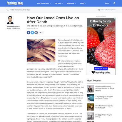 How Our Loved Ones Live on After Death