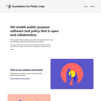 Home, Foundation for Public Code
