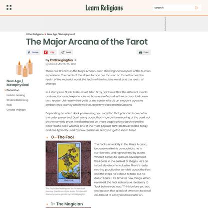 The Major Arcana Cards of the Tarot