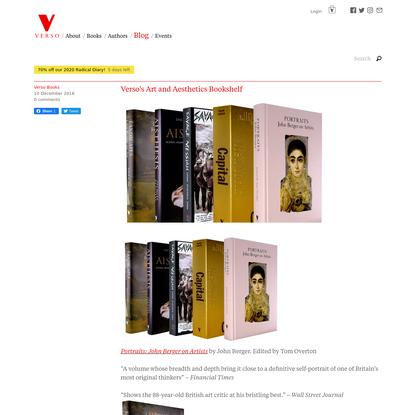 Verso's Art and Aesthetics Bookshelf