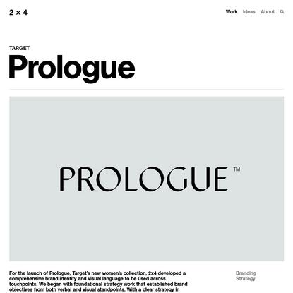 Prologue - 2x4