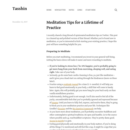 Meditation Tips for a Lifetime of Practice