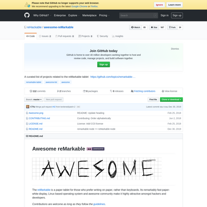reHackable/awesome-reMarkable