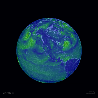earth :: a global map of wind, weather, and ocean conditions
