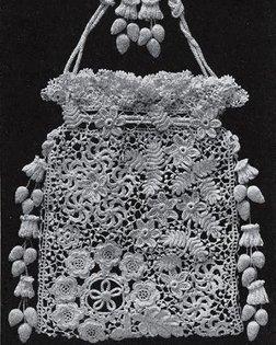 Opera Bag in Irish Crochet, 1912