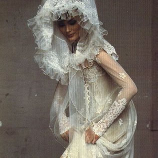 Shalom Harlow in Christian Lacroix, by Irving Penn.