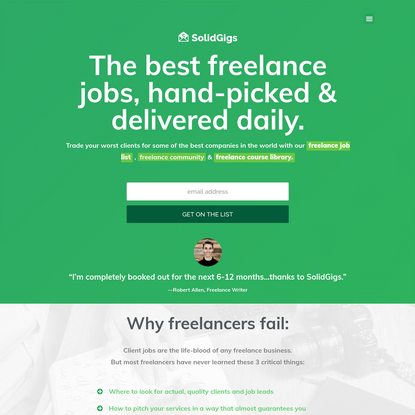 The best freelance jobs delivered to your inbox every week