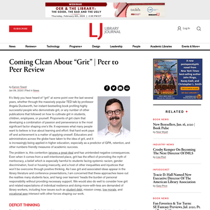 """Coming Clean About """"Grit"""" 