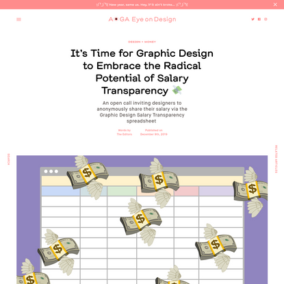 It's Time for Graphic Design to Embrace the Radical Potential of Salary Transparency 💸